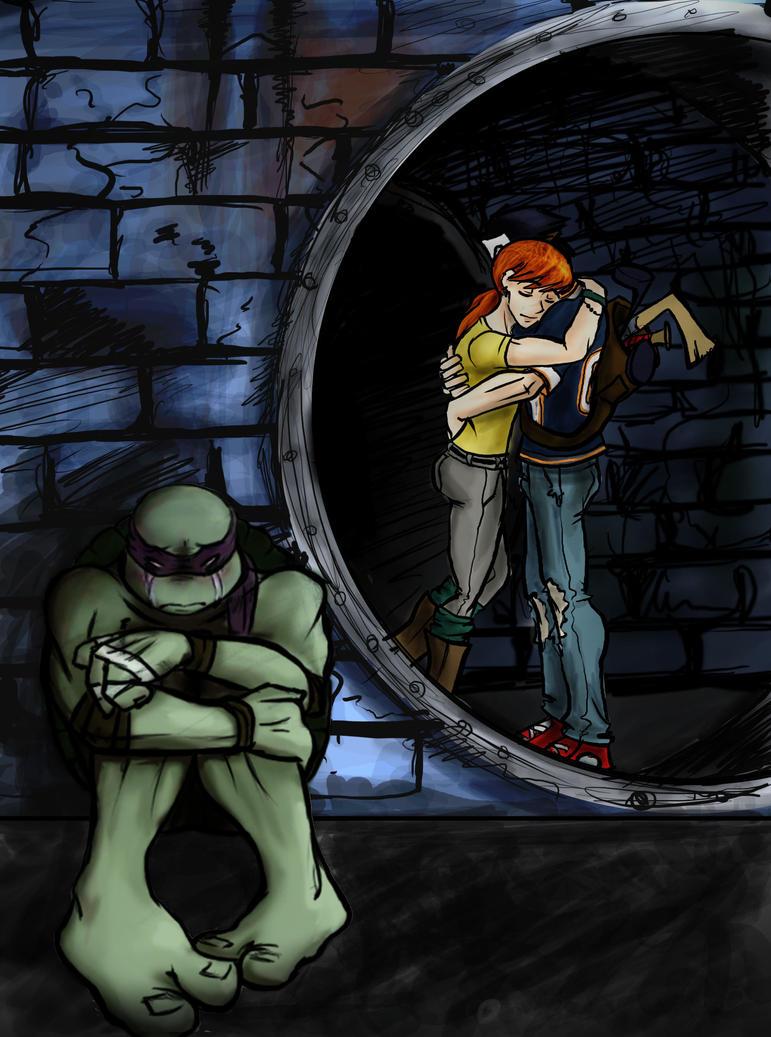 Teenage Mutant Ninja Turtles April And Casey Kiss