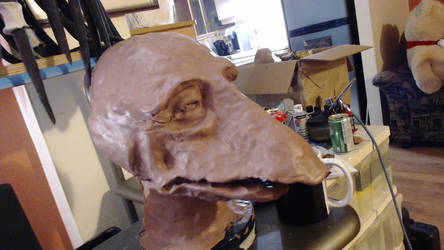 The Dark Crystal Mystique Head step 1 by Norbert2009