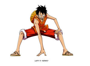 Luffy One Piece Lineart coloreo by Saiyo