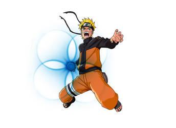 Naruto Rasengan Lineart Coloreo Saiyo