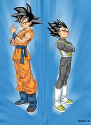 Son Goku y Vegeta fukkatsu no F