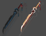 Yin and Yang weapon adopt auction CLOSED