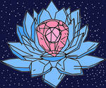 Sailor Utopia's Blue and Pink Crystal Lotus