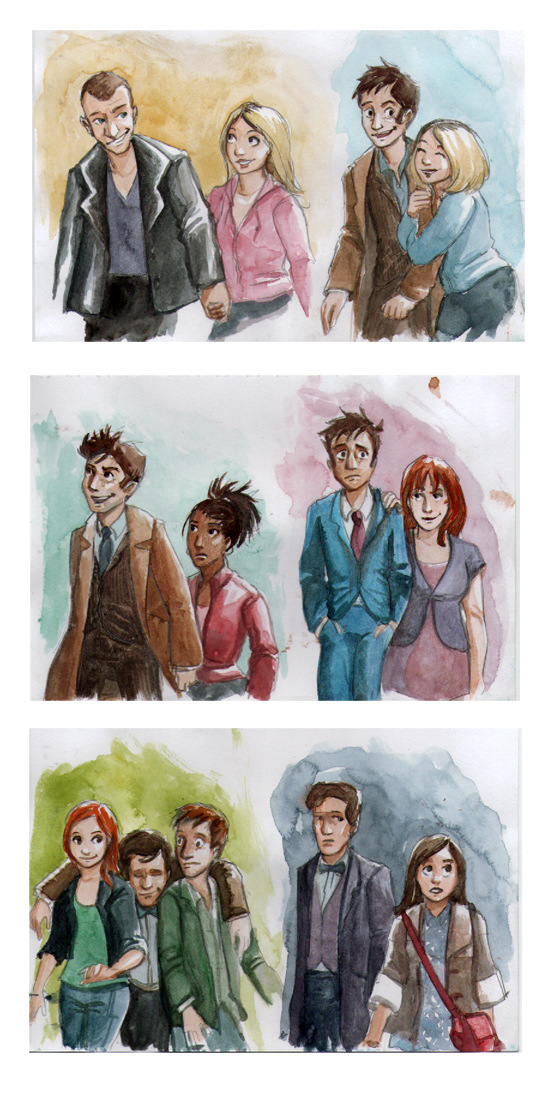 New Doctors and Companions by Alda-Rana