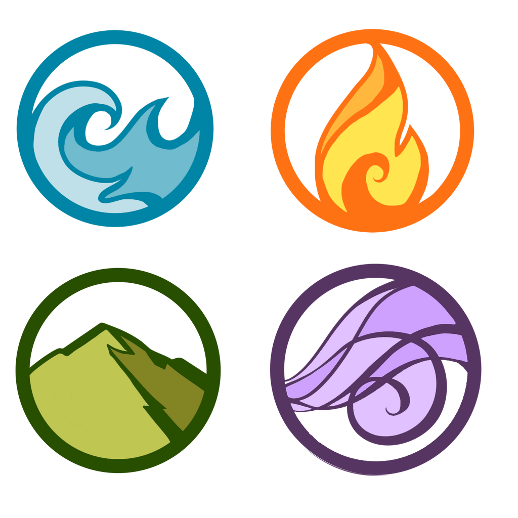 the four elements Many pagans feel a connection to the four classical elements: earth, air, fire and water each is associated with a number of different attributes.