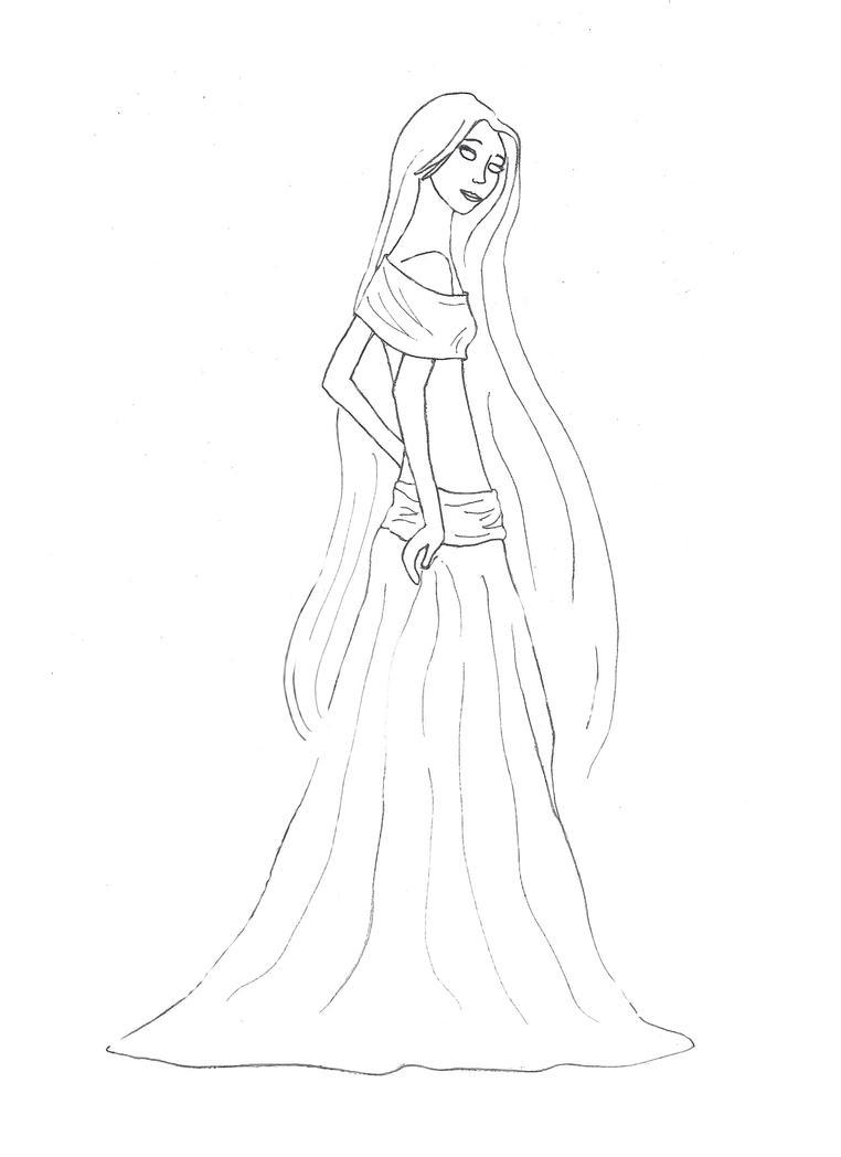 Rapunzel Lineart : Rapunzel lineart by silvanne on deviantart