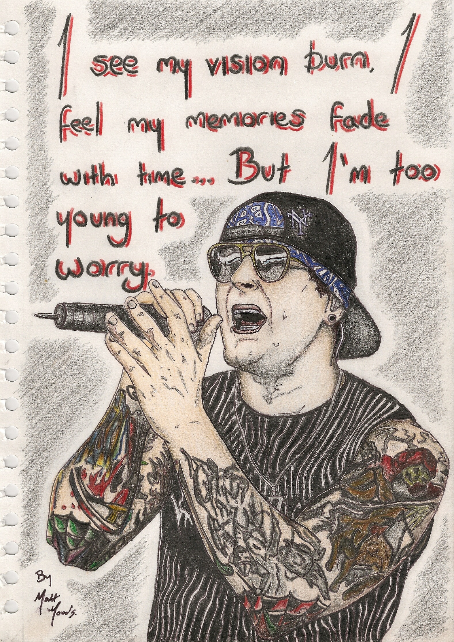 M Shadows Tattoos Four Horsemen M Shadows Tattoos Four...