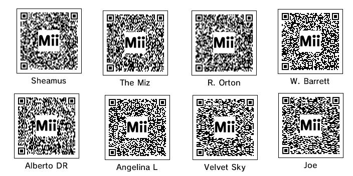 Wwe mii qr codes related keywords amp suggestions wwe mii qr codes
