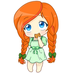 Chibi Cookie Girl Earrach Leim NEW EYES by MObubbles