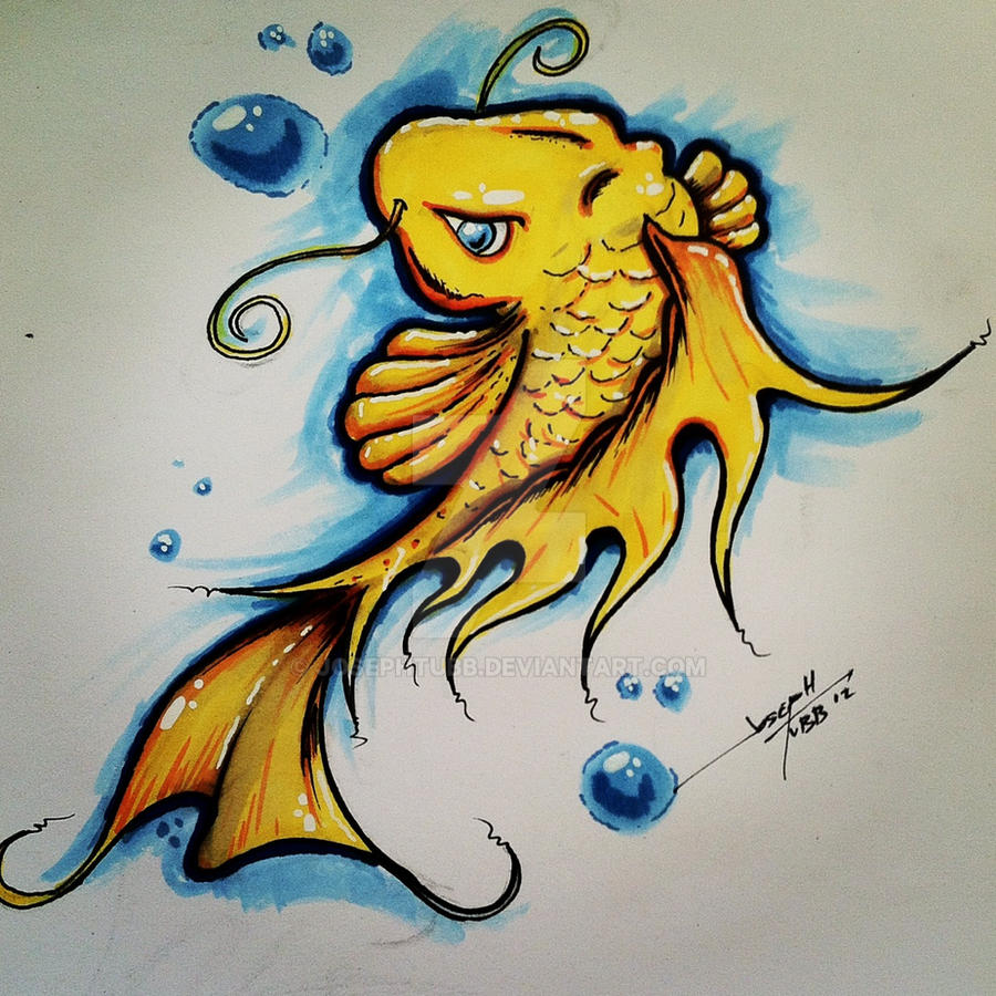 Koi fish drawing by josephtubb on deviantart for Cool koi fish