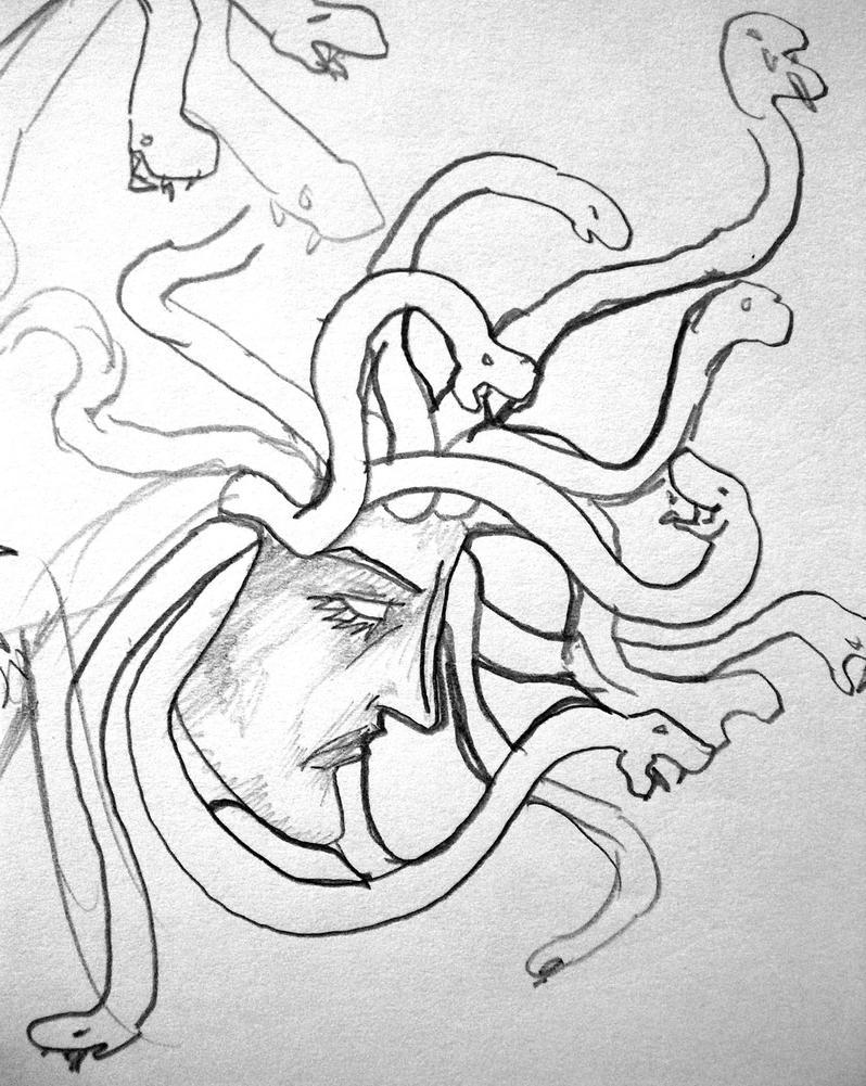medusa sketch 005 by vanouka on DeviantArt