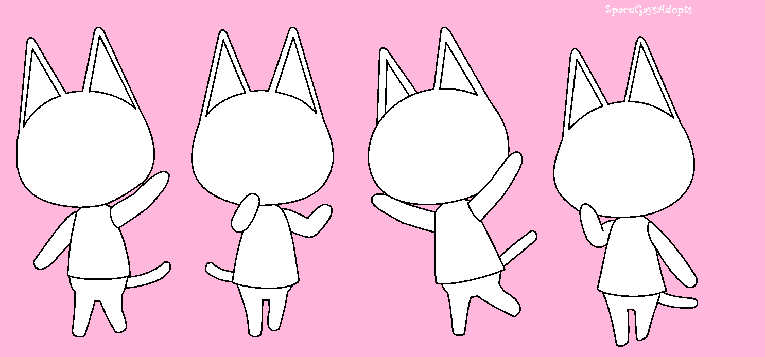 F2u Animal Crossing Cat Bases By Spacegaysadopts On Deviantart