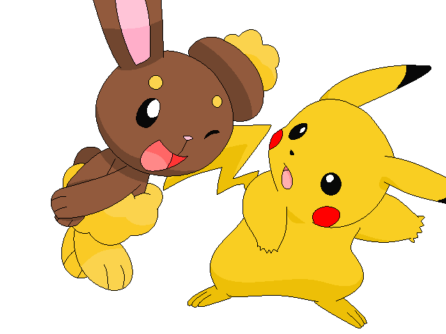 buneary and pikachu base by riocari48 on deviantart
