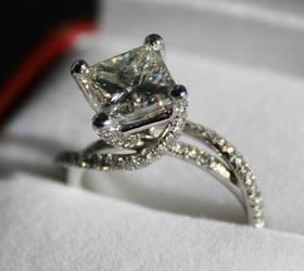 Princess diamond ring by Jewelerina