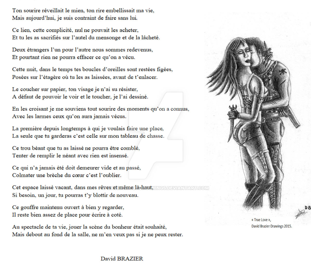 Poeme French By Davidbrazierdrawings On Deviantart
