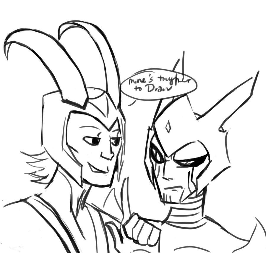 Helmets Suck: Loki and Razer by mmemento