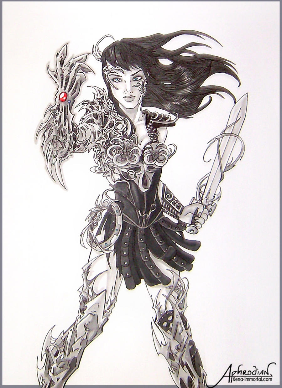 - Xena the first wearer of the Witchblade - by Aphrodian