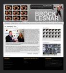 Brock Lesnar Fansite Layout by Fr1stys