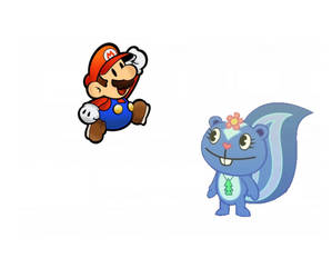 Petunia meets Paper Mario
