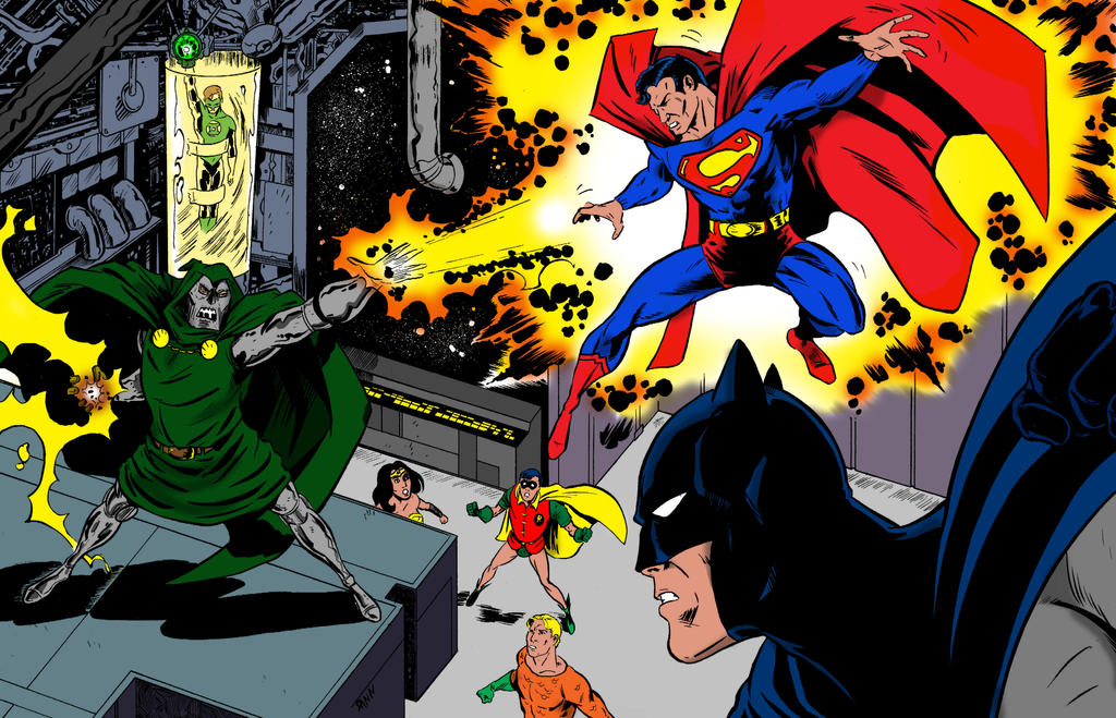 Dr. Doom and the Super Friends : Colored Version by dannphillips
