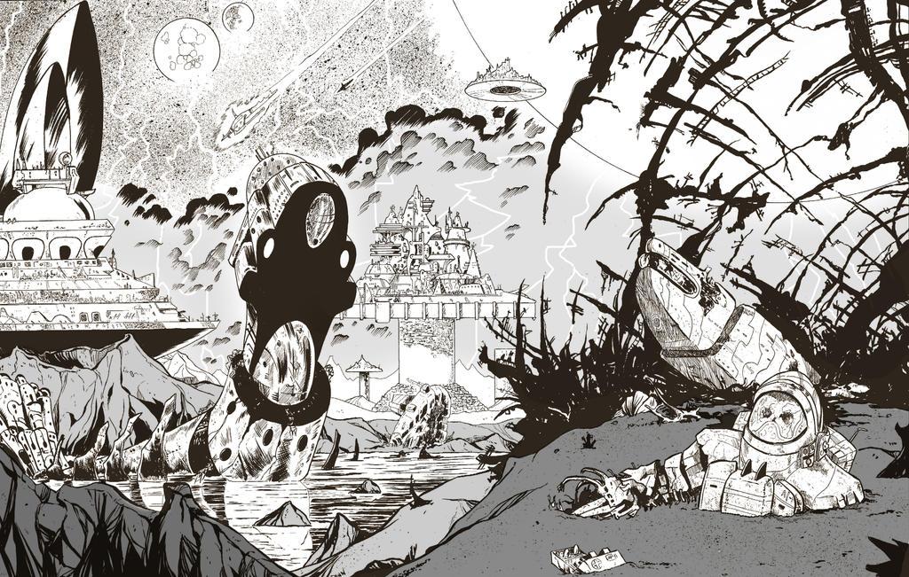 Spaceship Graveyard by dannphillips