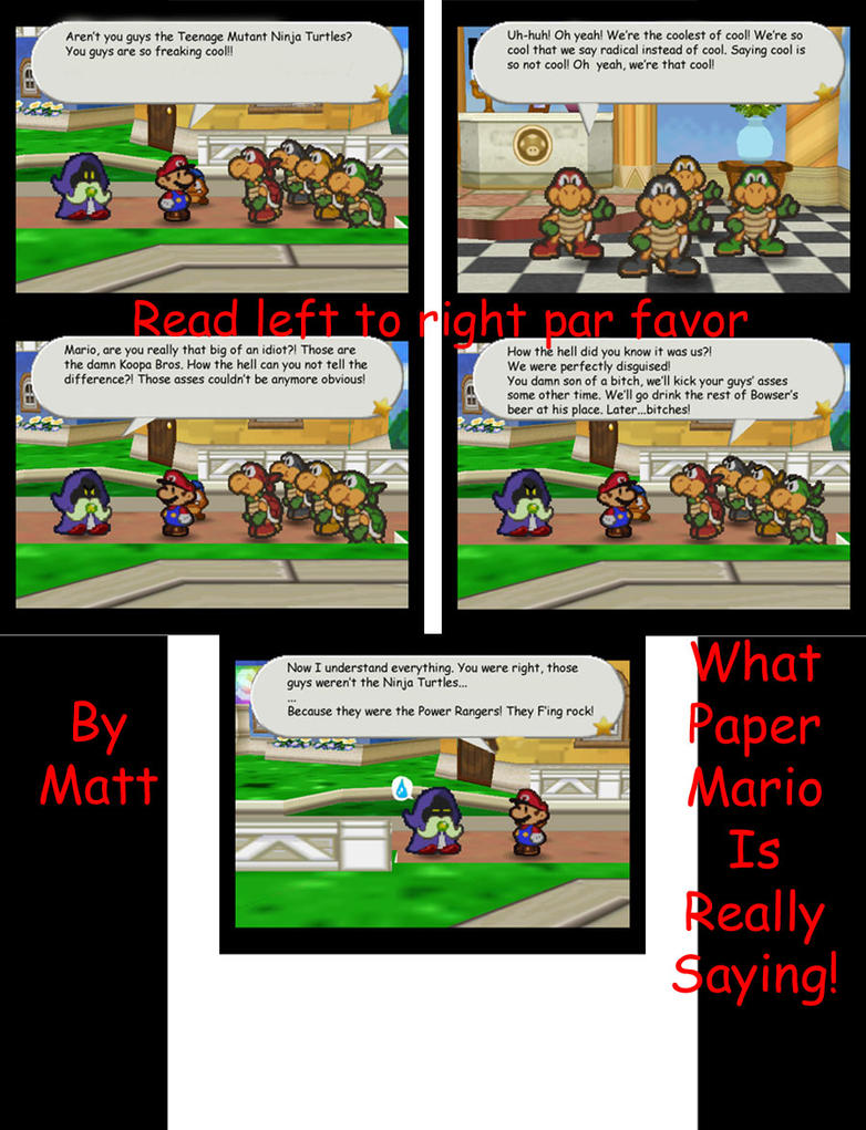 Paper Affects Mario's Brain by PumpkinKing8788