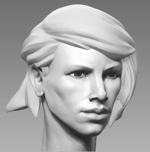 woman head by pyzzmon