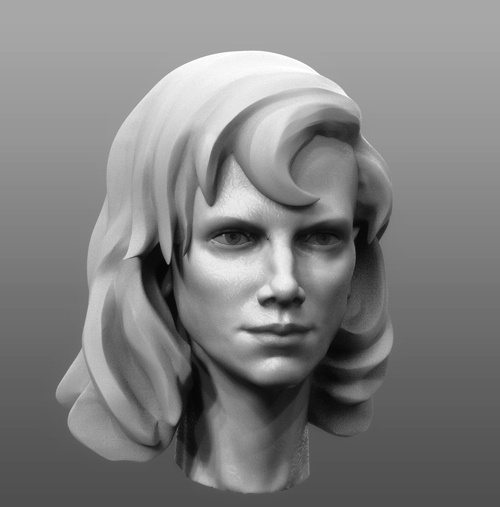 girl head by pyzzmon