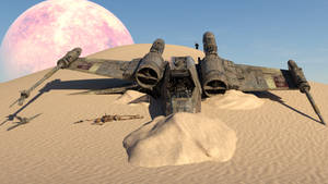 Maul Finds Old And Abandoned X-Wing On Tatooine