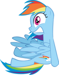 Rainbow Dash Shocked