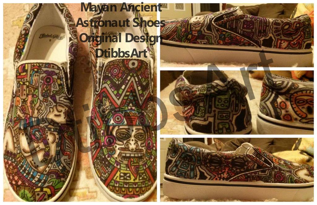Mayan Calendar Ancient Astronaut Shoes by DtibbsArt on DeviantArt