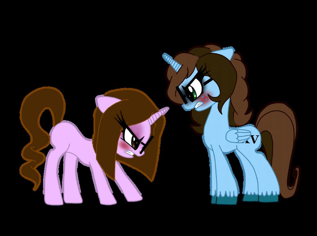 Pony Sister Quarrel by NoxidamXV