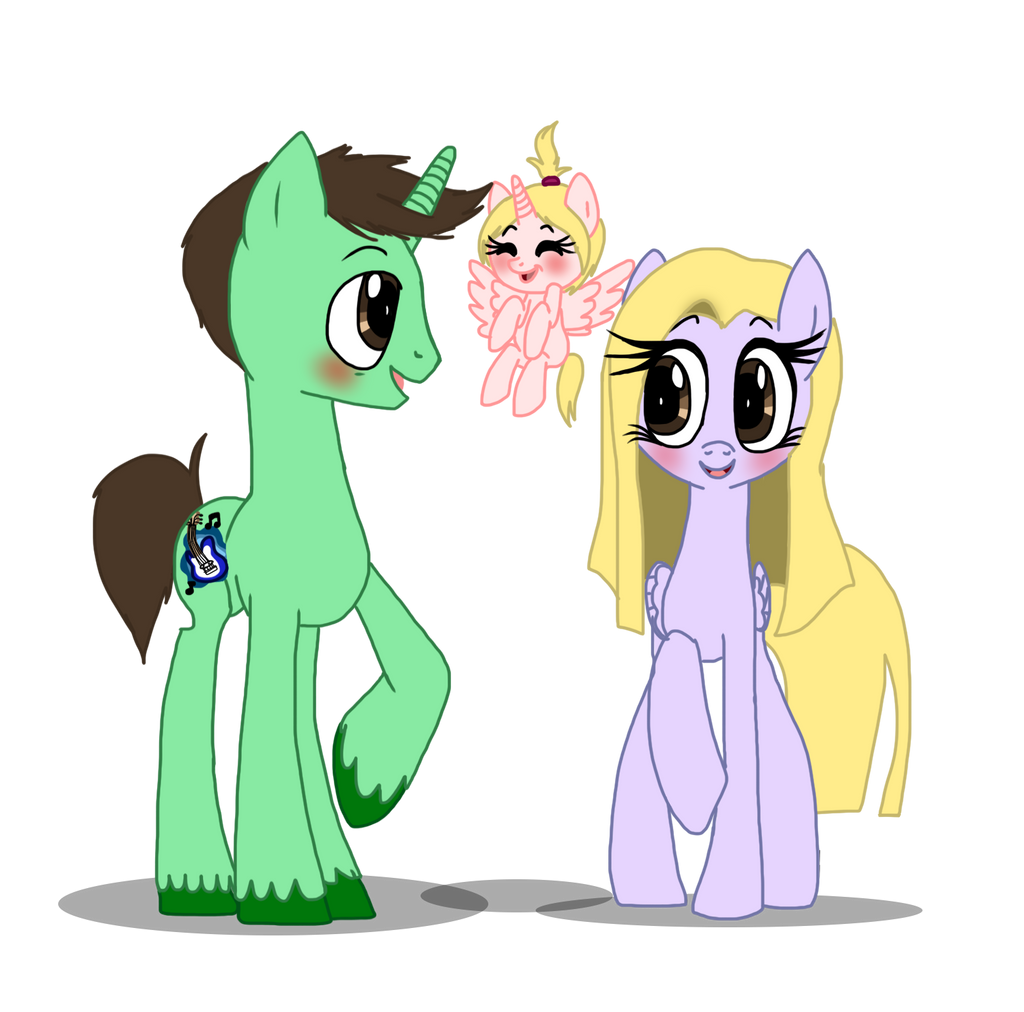 My Pony Parents and Filly Sister by NoxidamXV