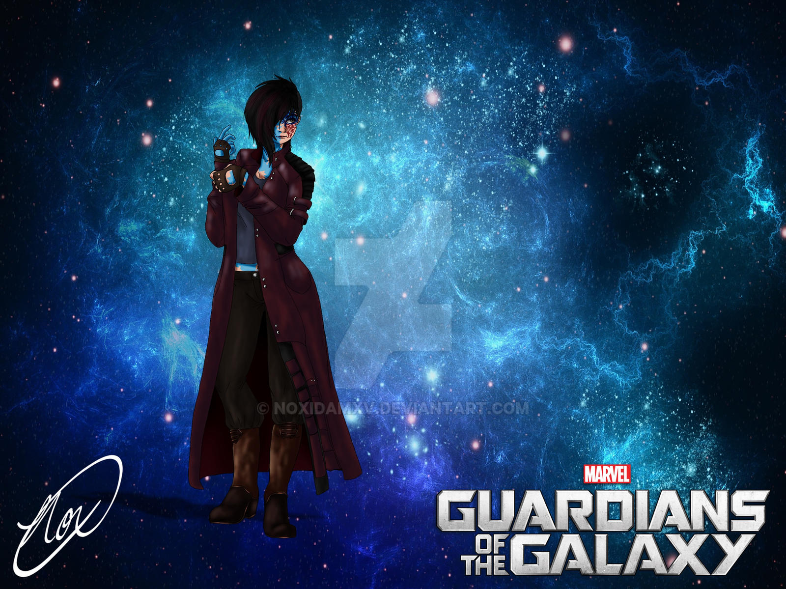 Guardians of The Galaxy OC: Charlotte Obfonteri by NoxidamXV