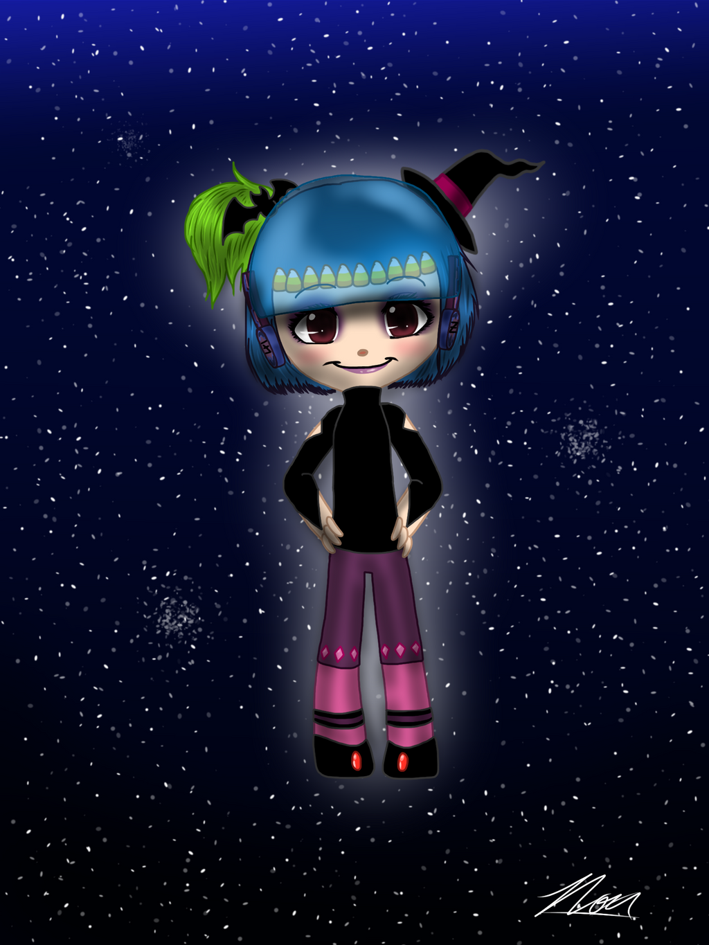 Commission- Space Witch Girl by NoxidamXV