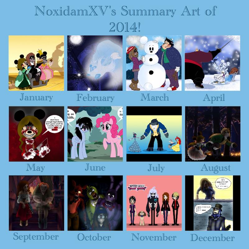 Summary Art of 2014! by NoxidamXV