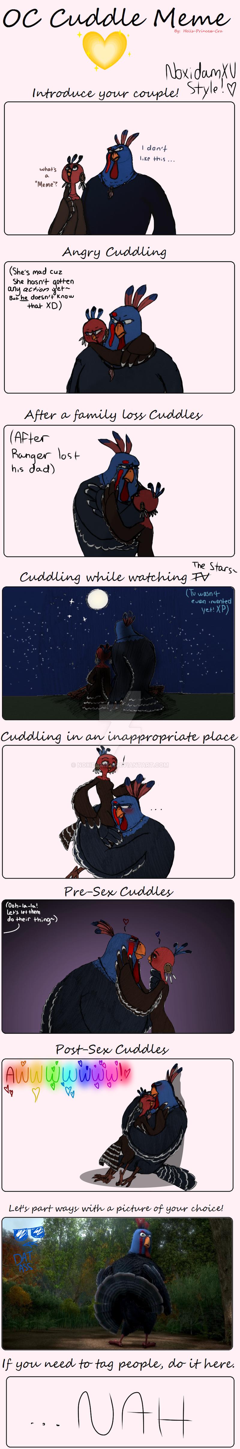 OC Cuddle Meme by NoxidamXV