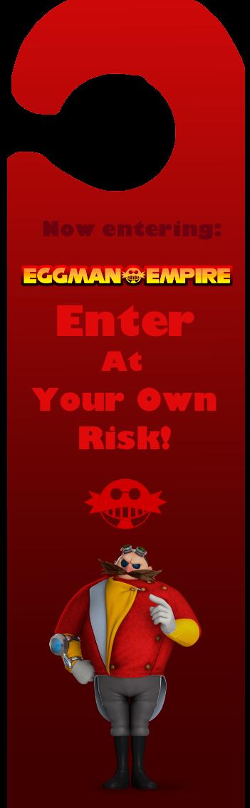 Door sign: Eggman by NoxidamXV