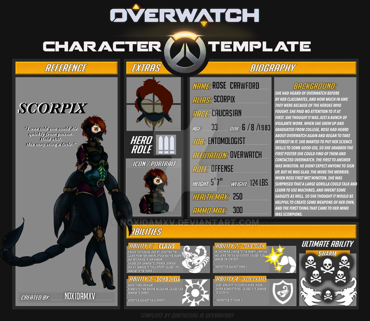 Overwatch oc: Scorpix by NoxidamXV