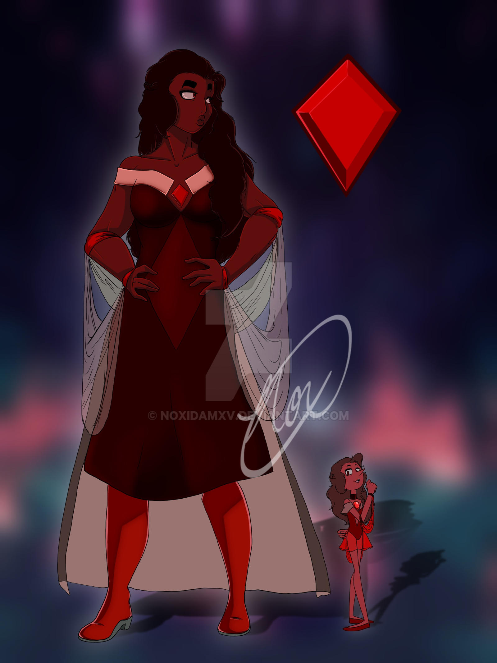 Red Diamond and her Pearl by NoxidamXV