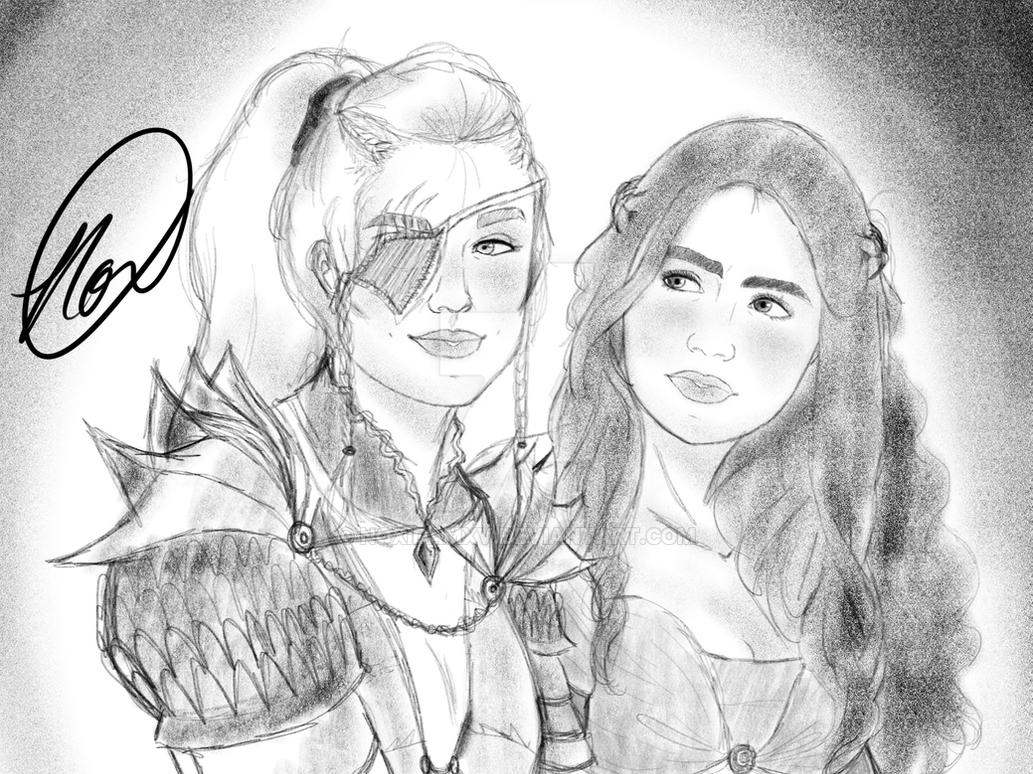 Two Highborn Ladies by NoxidamXV