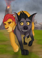 Janja Saves Kion by Specky-Arts