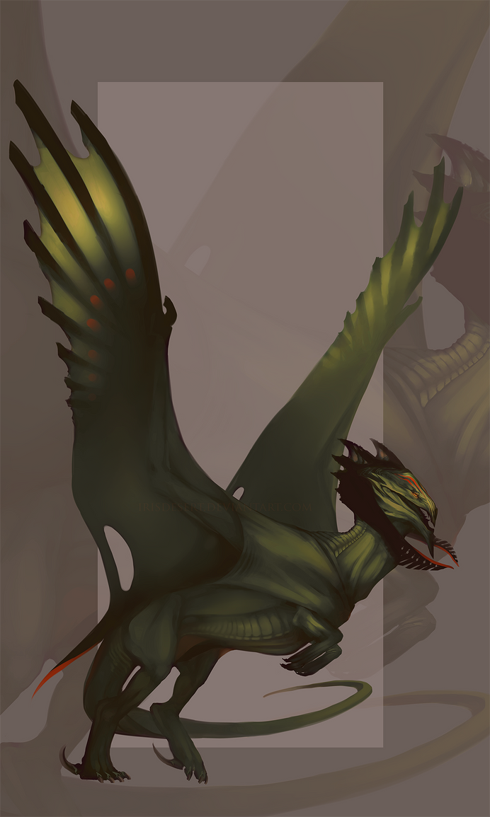 Species Design: Forest Dragon by IrisDesert