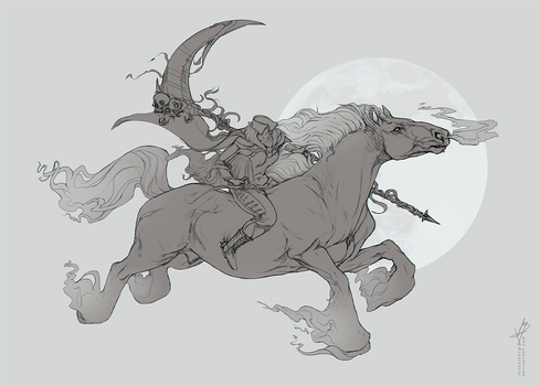 Dullahan Sketch Commission