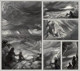 Desert Travelers Illustration Thumbnails