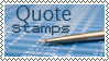 Quote Stamps by Illumi-Nation