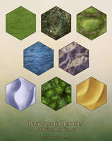 More hex tiles (terrain) by miss-hena