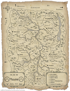 Map Art: Valor
