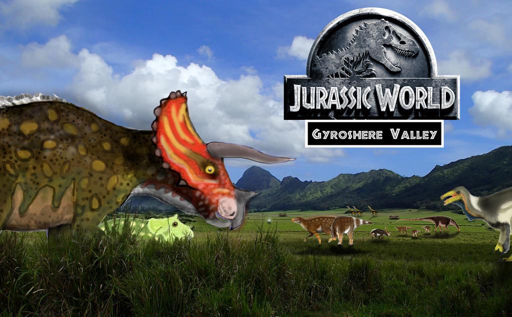 JURASSIC MONTH STARTER IMAGE- Gyroshere valley by Taliesaurus