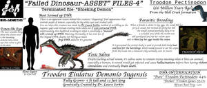 TERMINATED DINOSAUR ASSET FILES- Demon Troodon